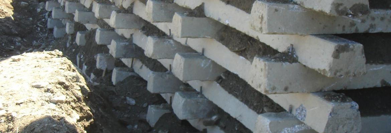 Betonkrainerwände Verbauungen